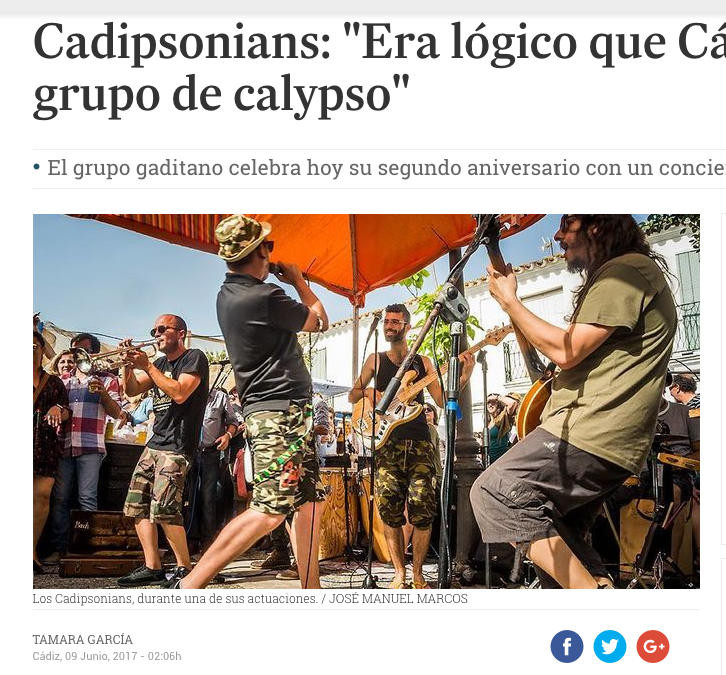 Cadipsonians: «Era lógico que Cádiz tuviera un grupo de calypso»